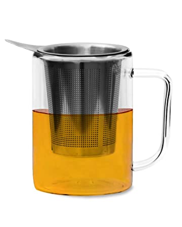 Glenburn Tea Direct Glass Infuser Mug (200ml) Cups, Mugs & Saucers at amazon