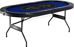 Barrington Collection Poker Table with Padded Rails and Cup Holders