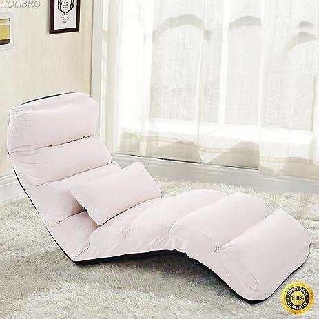 Amazon.com: COLIBROX--Beige Folding Lazy Sofa Chair Stylish Sofa ...