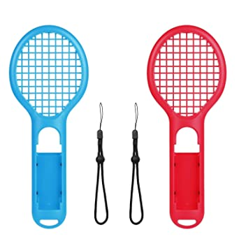 Voviqi Raqueta de Tenis para Nintendo Switch, Raqueta de Tenis Joy-con para Nintendo Switch Juegos somatosensoriales como Mario Tennis Aces (2 Paquetes) (Azul y Rojo): Amazon.es: Industria, empresas y ciencia