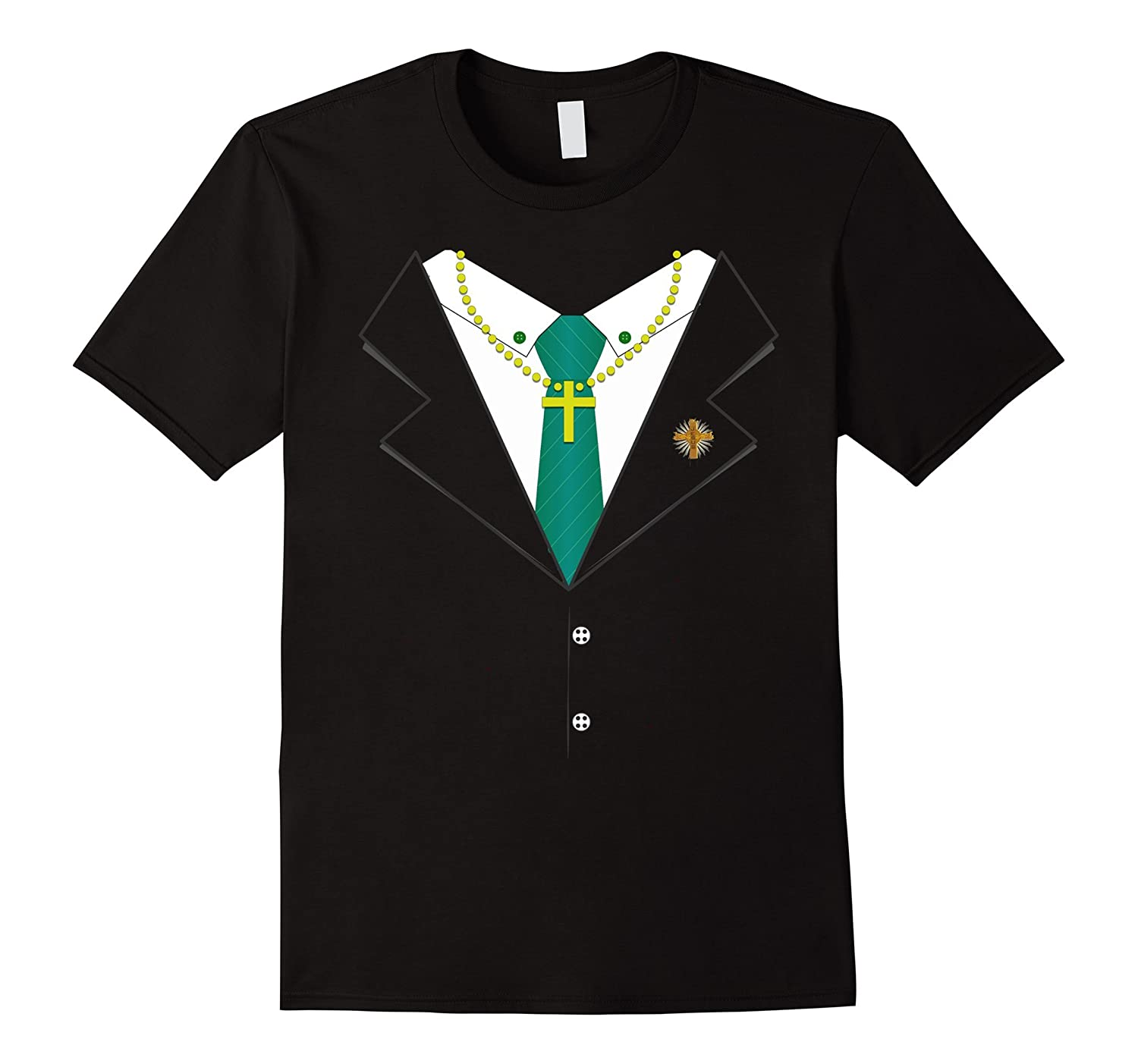 Preacher Suit Tie Halloween Costume T-Shirt - Priest
