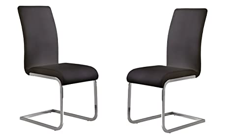 Amazon.com: Amanda Side Chair Conjunto de dos: Kitchen & Dining