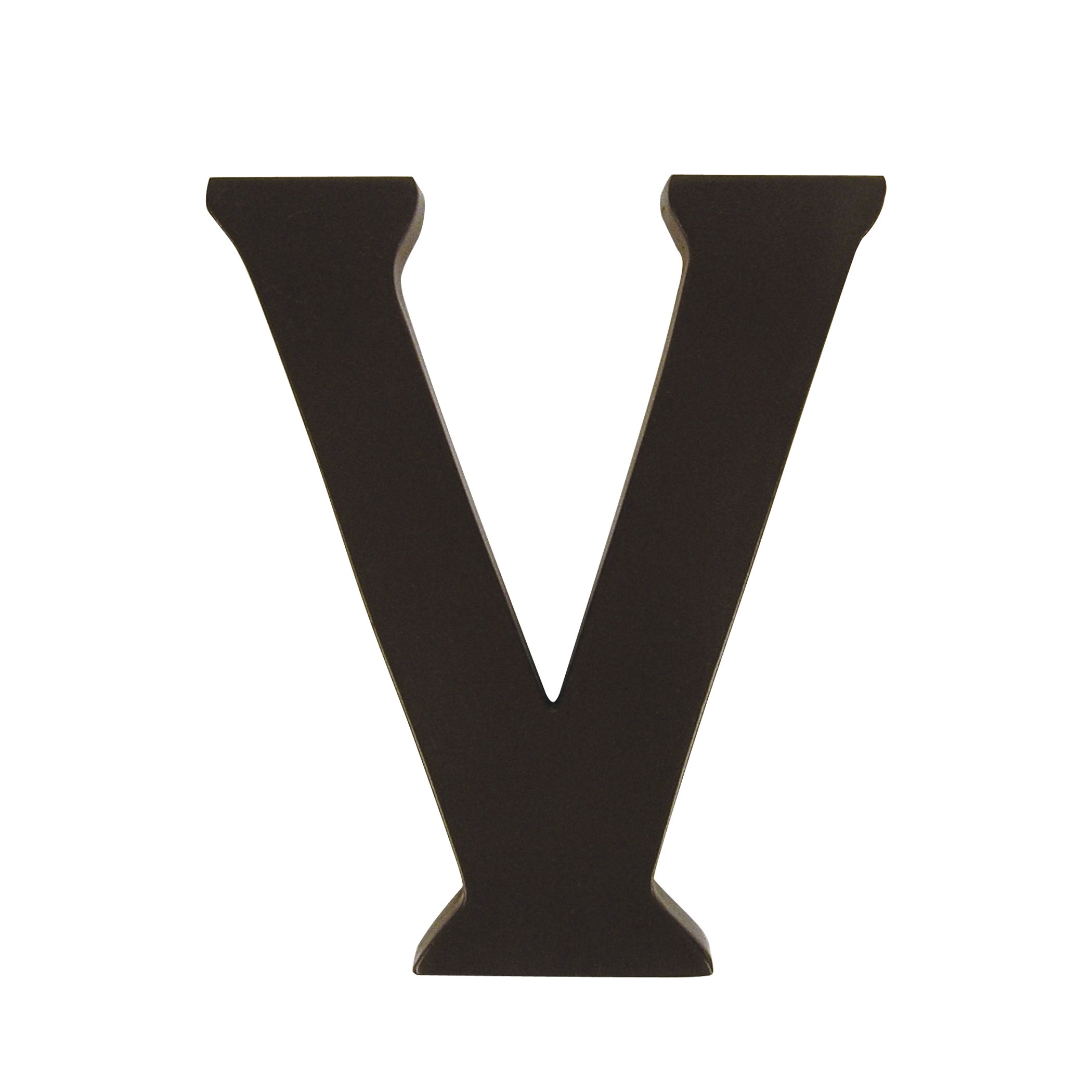 Trend Lab Brown 6'' Tall Letter, Letter V by Trend Lab