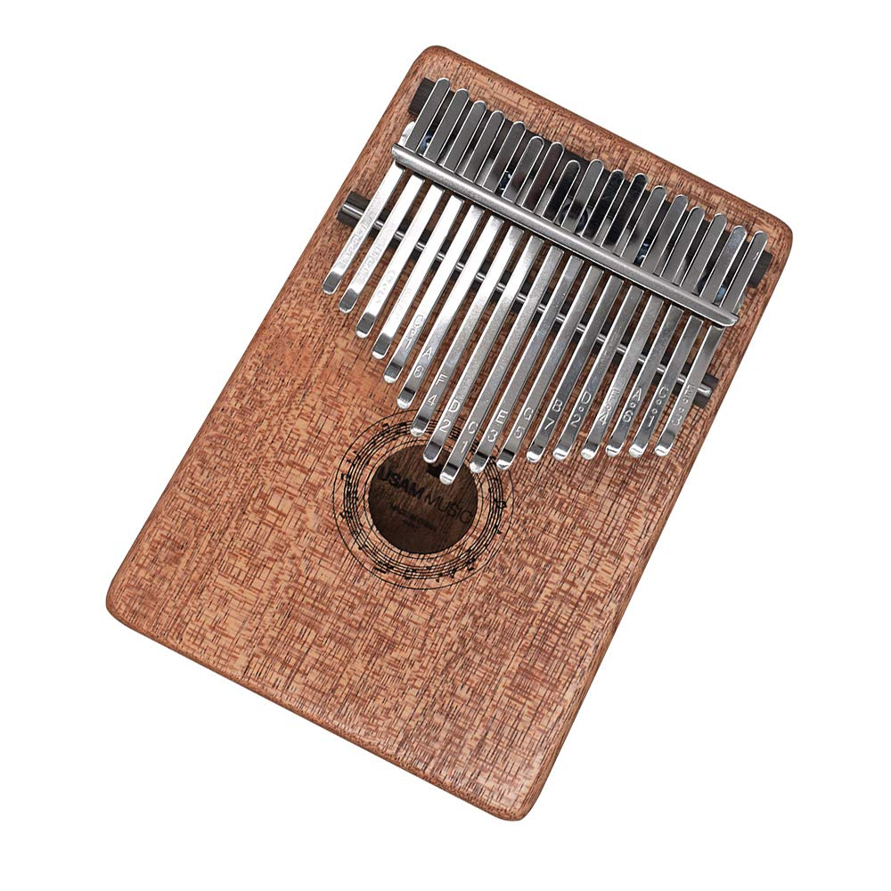 Smatton Kalimba Thumb Piano 17 Key Finger Piano Mbira Musical Instrument with Tune Hammer (Mahogany)