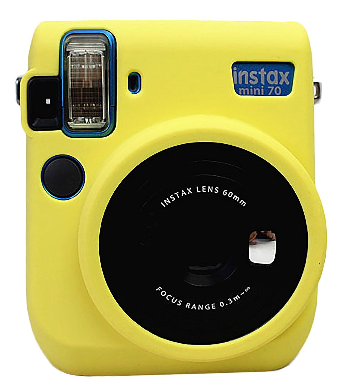 Gel de silicona de protecci/ón de goma suave bolsa de la c/ámara para el bolso de Fujifilm Fuji Instax Mini 70 C/ámara Magenta