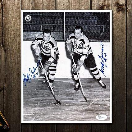 Milt Schmidt Boston Bruins Signed Autographed Small Bruins B Logo Puck