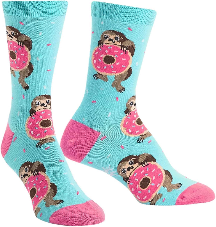 Cute Sloth Compression Socks For Women Casual Fashion Crew Socks