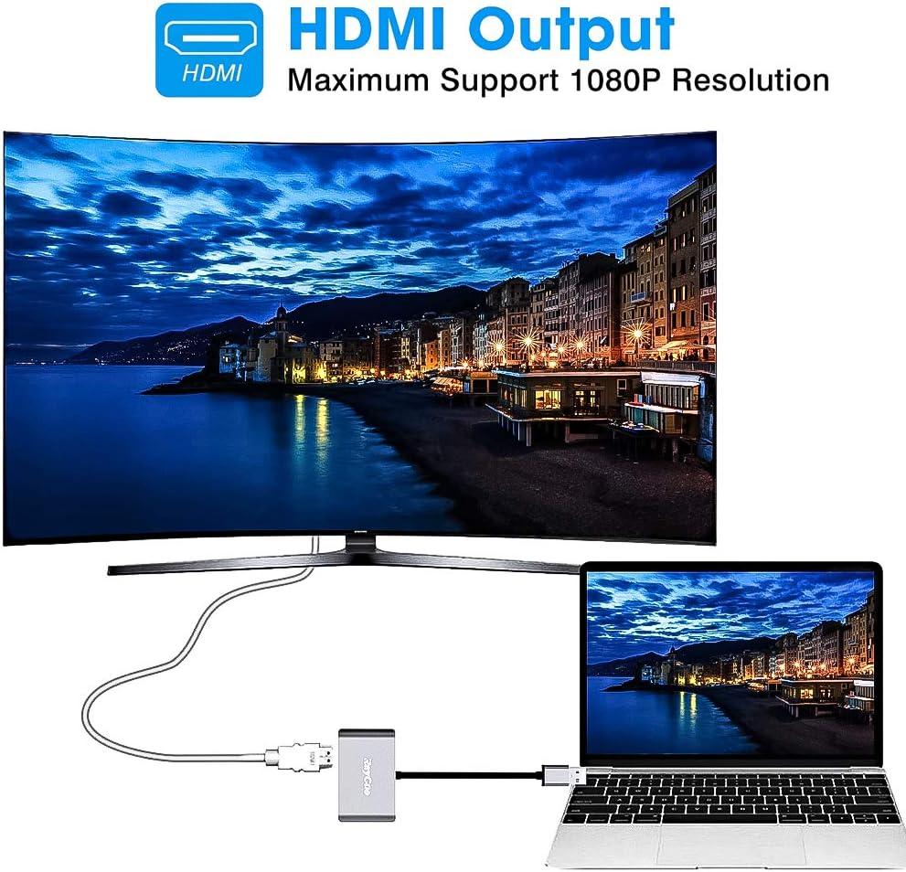 TV RP3 Adaptador HDMI a VGA 1080P Convertidor de V/ídeo para PC Ordenadores Port/átiles y Otros Dispositivos HDMI
