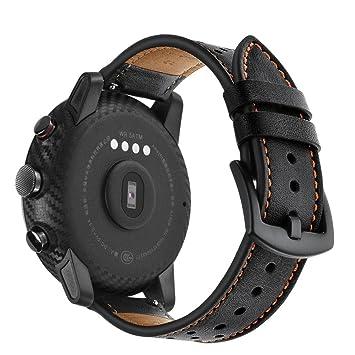 Correa de nailon ligera Diadia para reloj inteligente Amazfit Stratos 2/2S, negro, Band width: 22mm