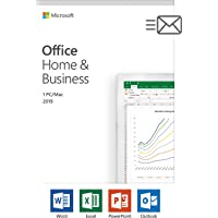 Microsoft Office Home and Business 2019 | 1 person, Windows 10 PC/Mac Key Card, English