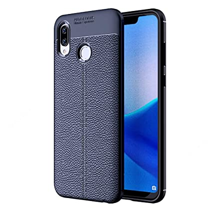 the best attitude c7893 63639 Golden Sand Compatible with Huawei Honor Play Back Cover Leather Texture  Series Shockproof Armor TPU Cover Case for Mobile, Navy Blue