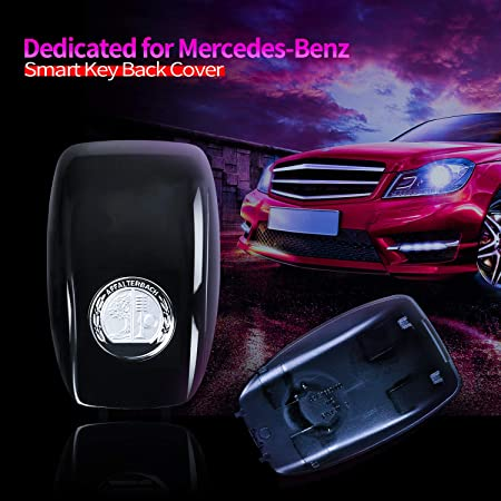 CLS Class 2018 Hikig Metal Emblem Smart Key Cover Logo Badge for Mercedes Benz C-Class 2019 Only Fit for New Version Smart Keys S-Class Later 2017 E-Class Later 2016