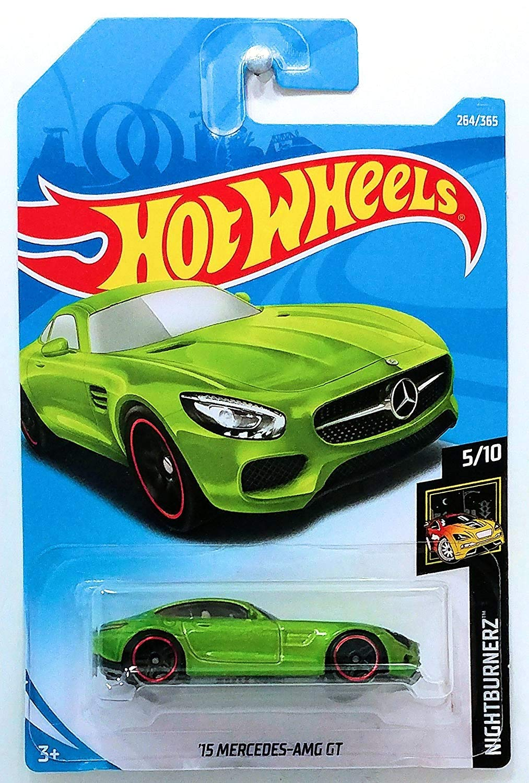 Hot Wheels 2018 50th Anniversary Nightburnerz '15 Mercedes-AMG GT 264/365, Green