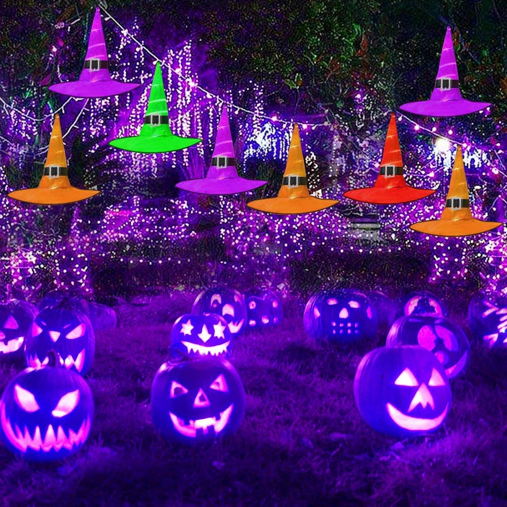 Halloween 2020 Lighting Amazon.com: Halloween Outdoor 8Pcs Hanging Lighted LED Glowing