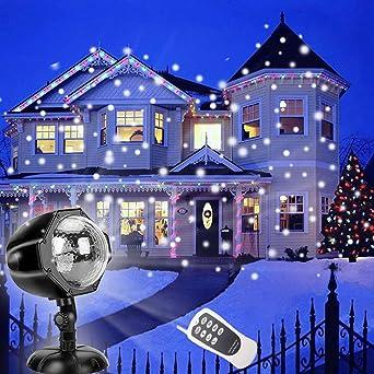 Weihnachtsbeleuchtung Aussen Schneefall.Jeenso Weihnachtsbeleuchtung Aussen Schneefall Projektionslampe Led
