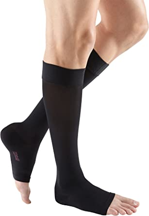 mediven plus Calf High w//Silicone Topband Open Toe 30-40 mmHg