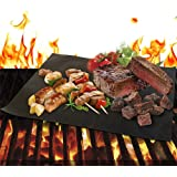 Grill Mat Set of 2 - Non Stick BBQ Grill Mats & Baking Mats for Grilling, Baking, Broiling - Heavy Duty, Reusable, and Easy to Clean