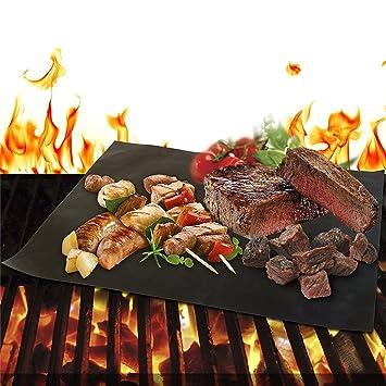Grill Mat - Set de 2 tapetes de Non stick barbacoa Grill ...
