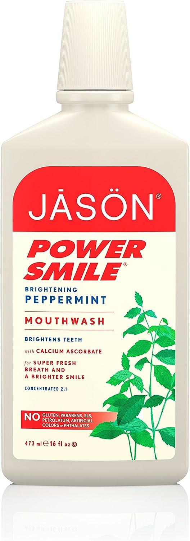 Jason Natural CosmeticsPowersmile Mouthwash, Peppermint, 16 oz