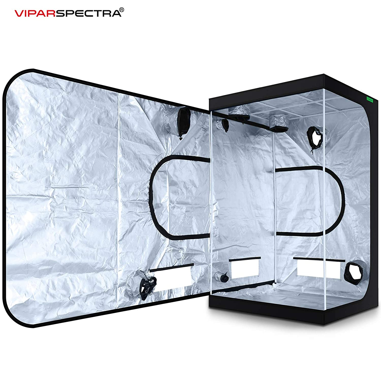 VIPARSPECTRA 48 x48 x80 Reflective 600D Mylar Hydroponic Grow Tent for Indoor Plant Growing 4 x4