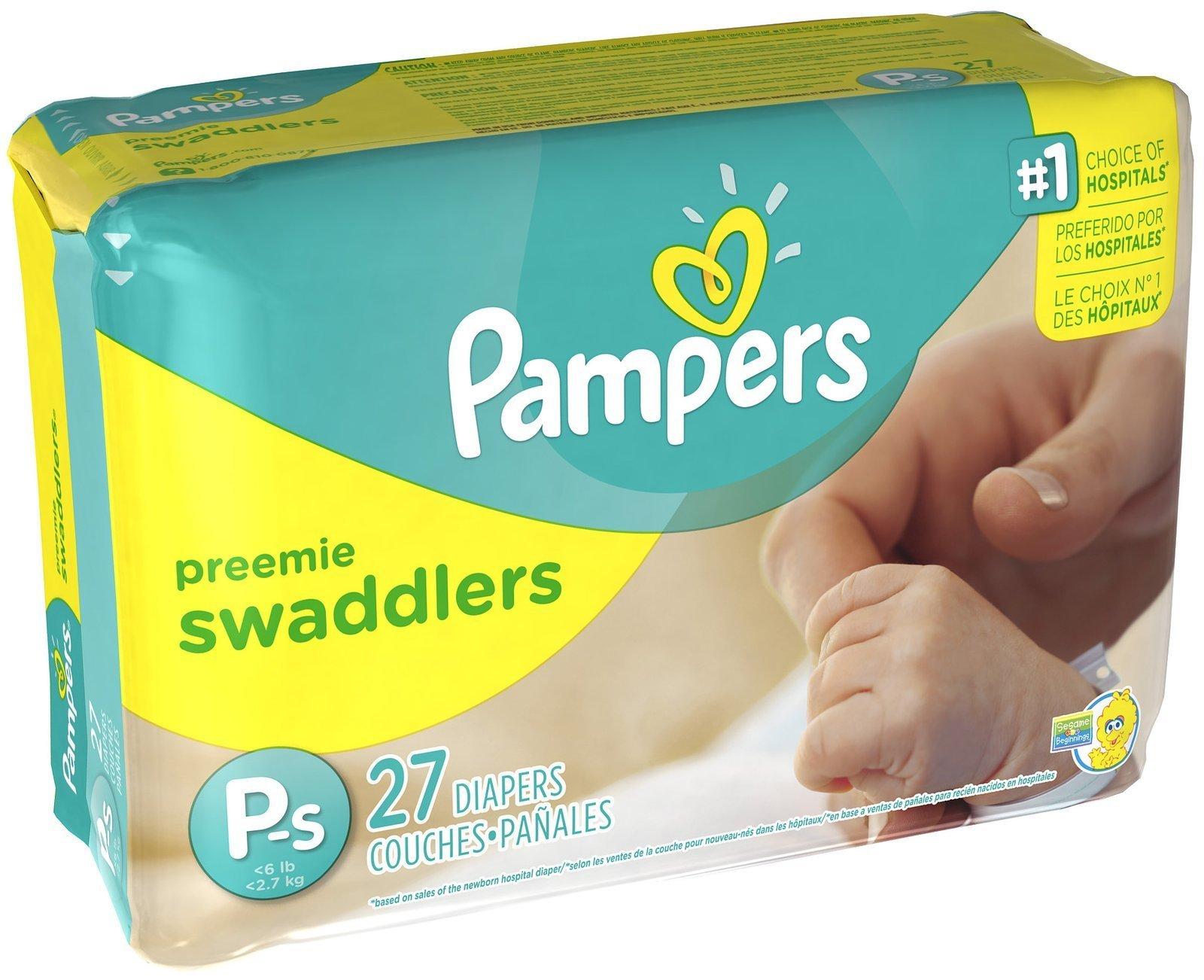 Pampers Swaddlers Diapers - Preemie - 27 ct