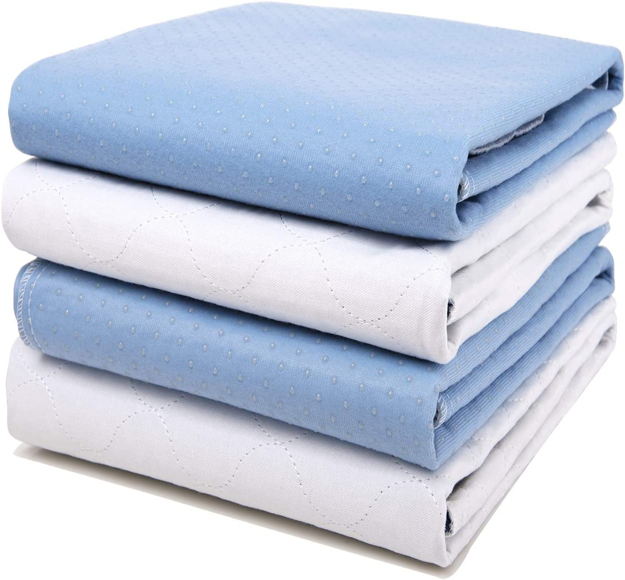 """4 Pack Bed Pads for Incontinence Washable 34"""" x 36"""",Waterproof Bed Pads,Adult Washable Incontinence Bed Pads for Adults,Dog,Kids: Health & Personal Care"""