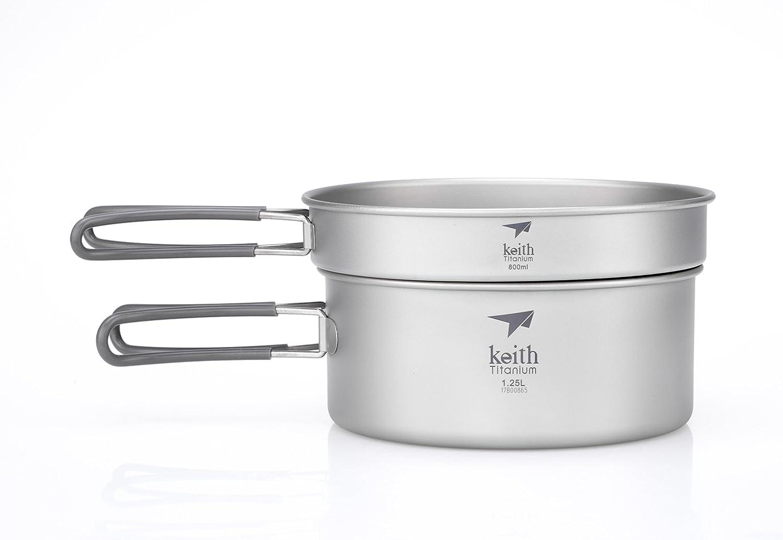 Keith Titanium Ti6017 2-Piece Pot and Pan Cook Set - 2.05 L (Limited Time Price)