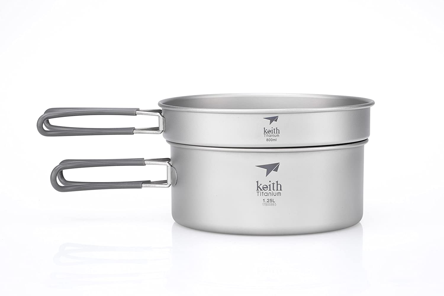 Keith Titanium Ti6017 2-Piece Pot and Pan Cook Set - 2.05 L (Limited Time Price)