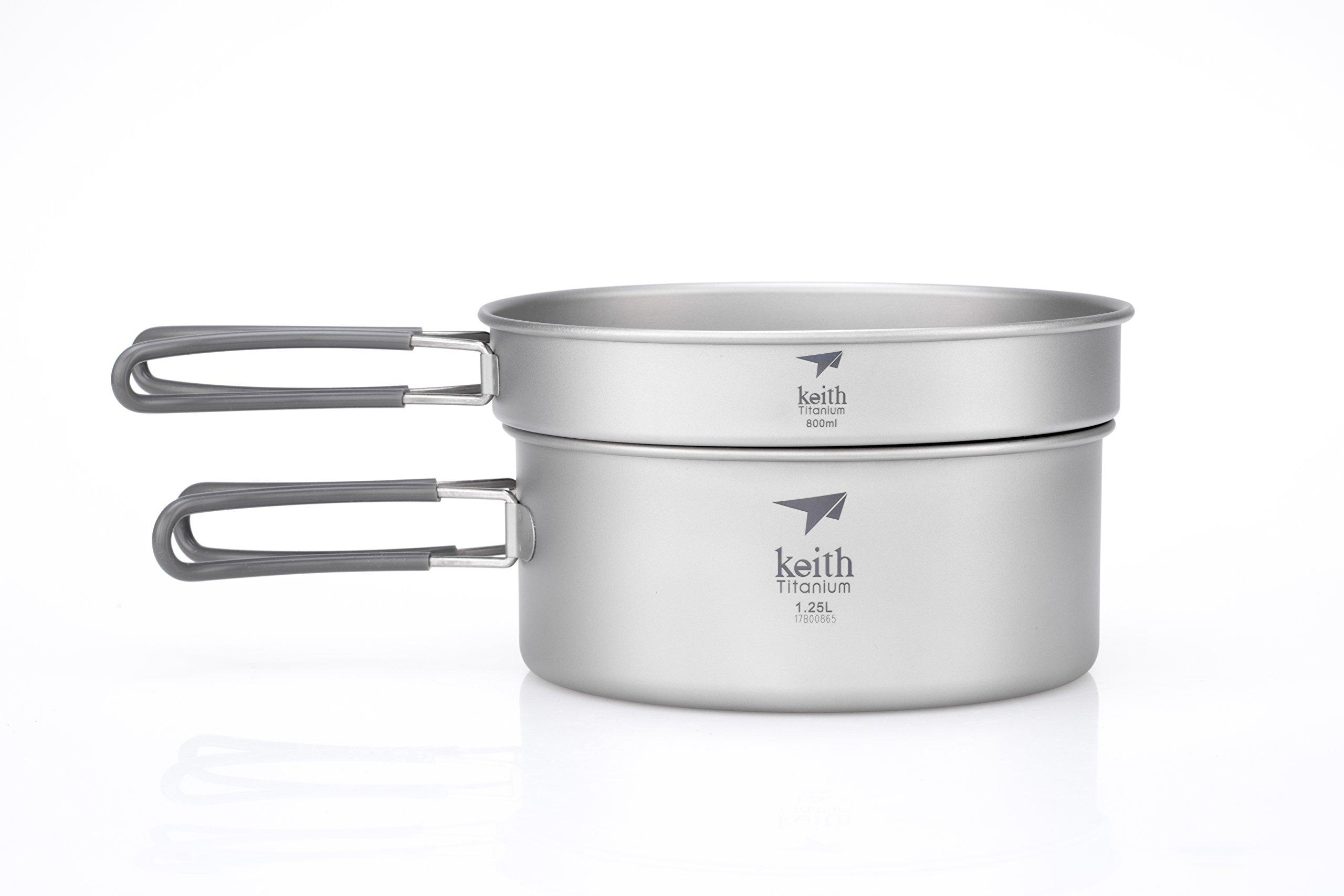 Keith Titanium Ti6017 2-Piece Pot and Pan Cook Set - 2.05 L (Limited Time Price) by Keith Titanium