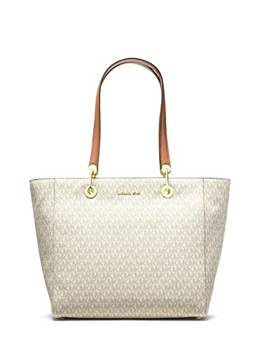 ad9bce3afff6 Amazon.com  Michael Kors Signature MK Raven Large East West Top-Zip Large Tote  Handbag (Vanilla)  Shoes