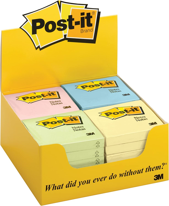 Assorted Pastel Post-it Notes 3amp;quot;x3amp;quot 24 PDper Pack