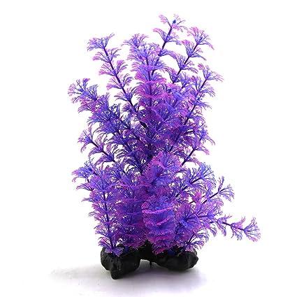 sourcingmap Púrpura De Plástico De Fábrica Peces De Acuario Tanque Paisaje Acuático Decorativo del Ornamento W