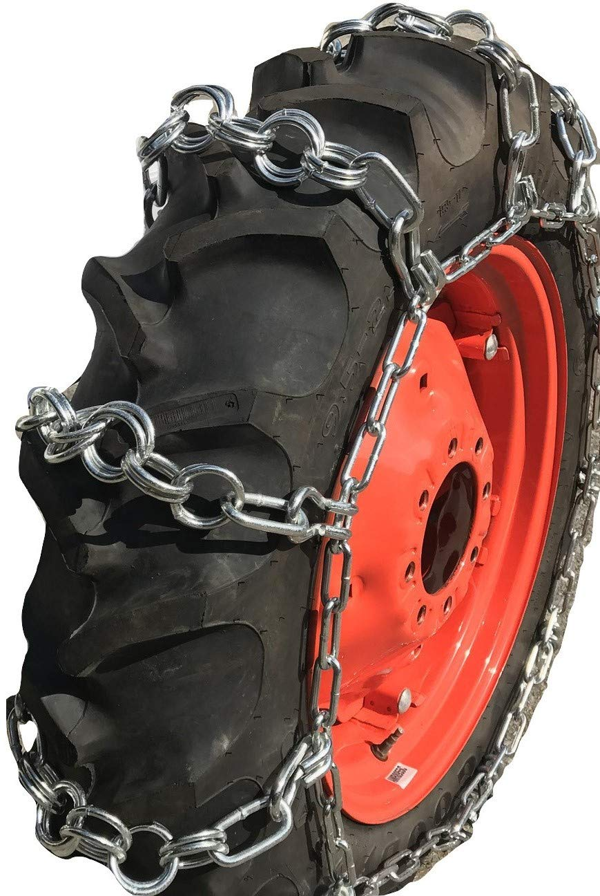 TireChain.com 11.2-24, 11.2 24 Double Ring Nuway Tractor Tire Chains