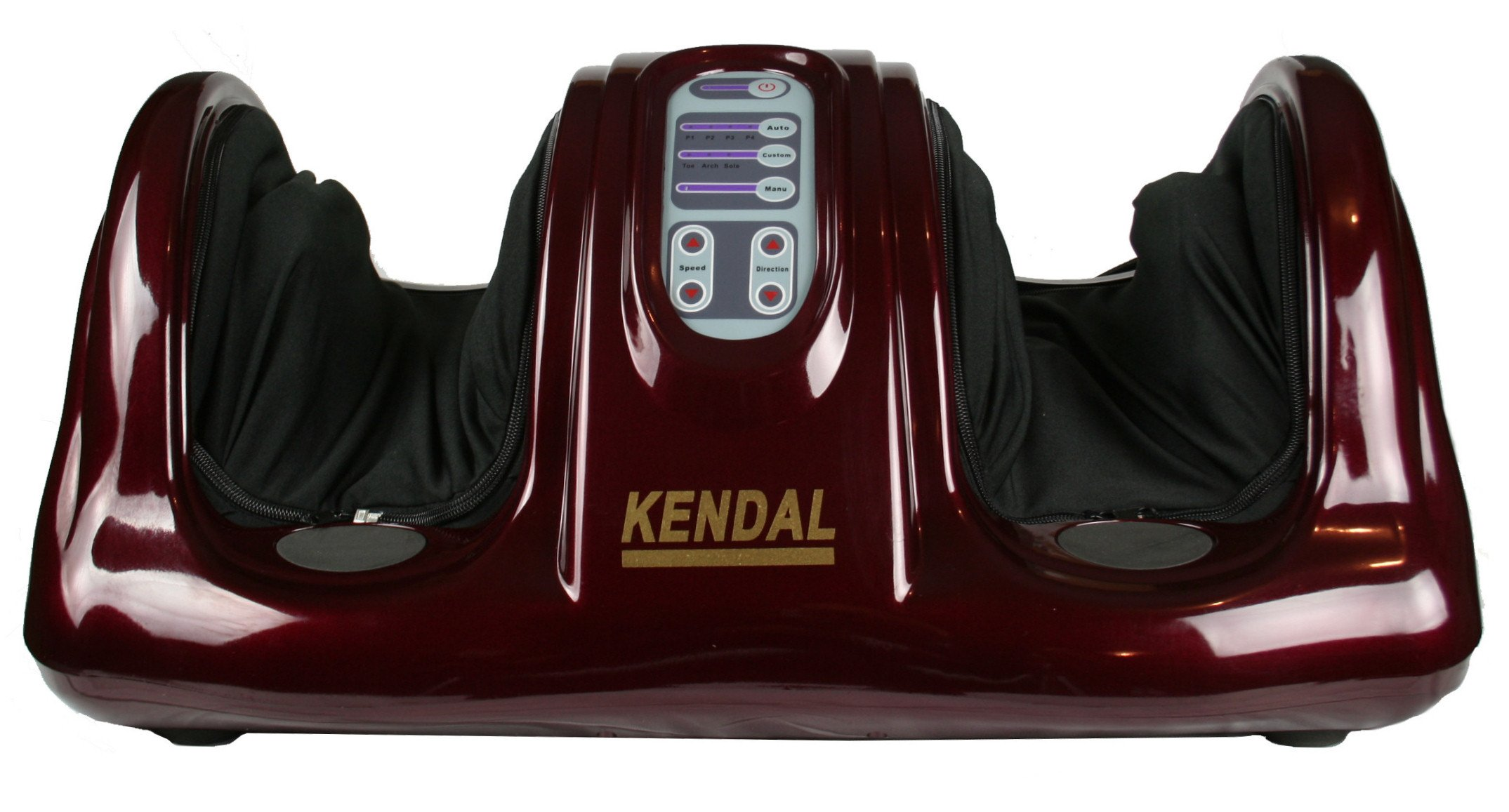 Shiatsu Kneading and Rolling Foot Massager Personal Health Studio w/ remote control AM-201-red