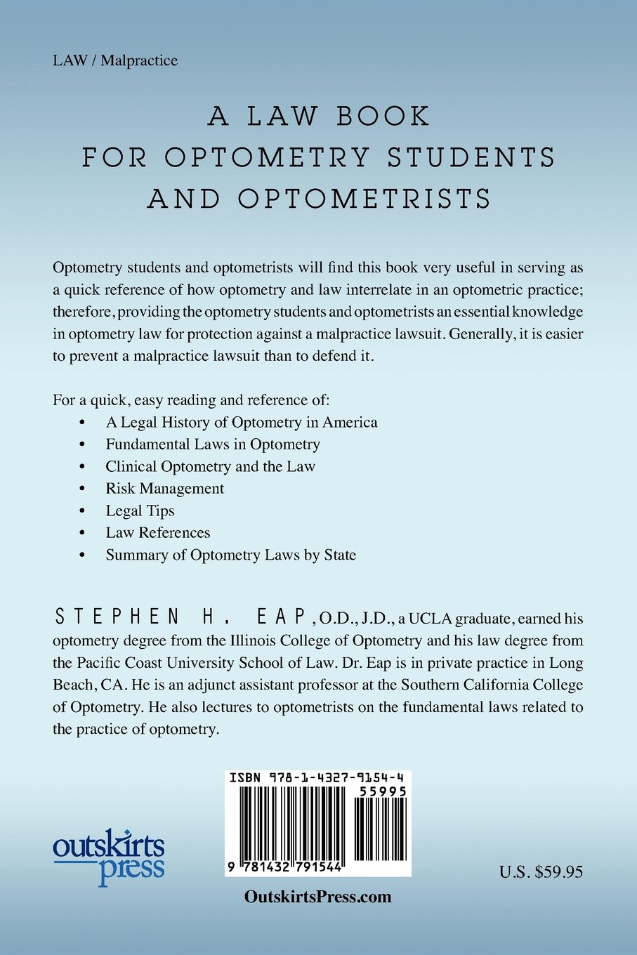 Buy Optometry Law Book Online at Low Prices in India | Optometry Law  Reviews & Ratings - Amazon.in