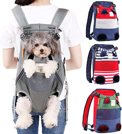 L Black Pet Dog Carrier Travel Bag Pet Sling Carrier Bag Mesh Backpack Head Out Carrier