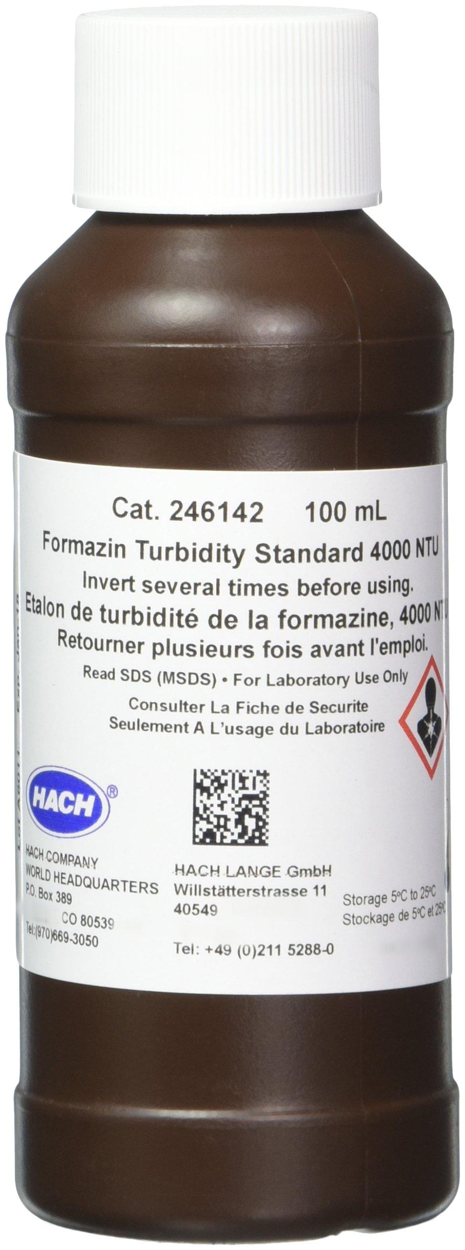 Hach 246142 Formazin Turbidity Standard, 4000 NTU, 100 mL
