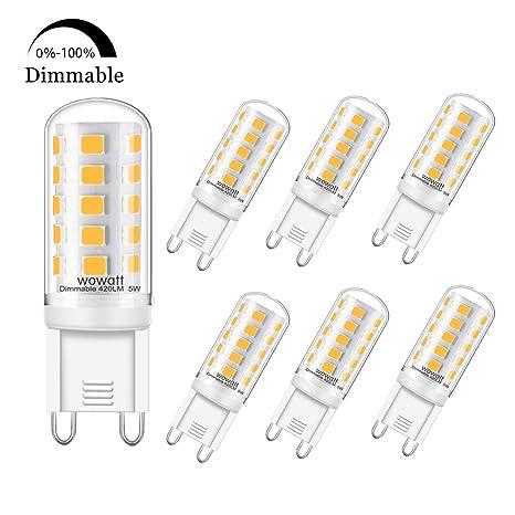 Lampe Ampoule À Lumière Équivalent 420lm Chaud Lumineux Dimmable 2700k De Wowatt 40w Blanc Halogène Led Angle G9 360°larges 5w 230v MSpqUzV