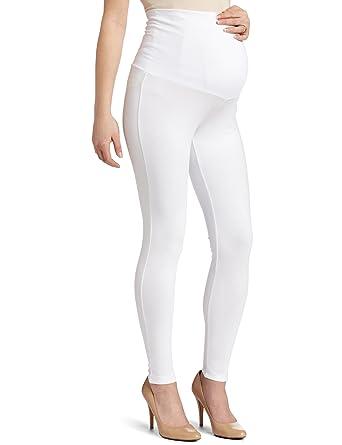 Maternal America Women's Maternity Belly Support Leggings, White ...