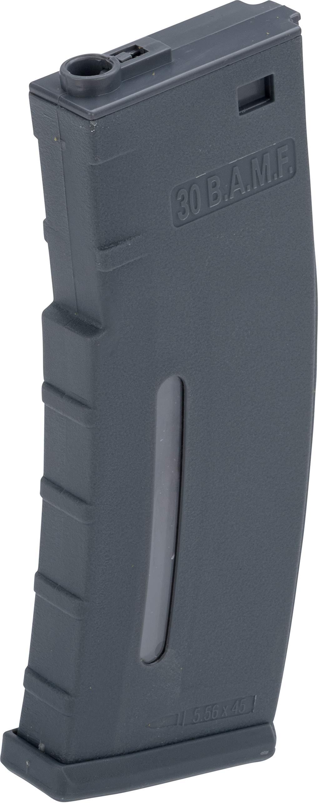 Evike BAMF 30rd Polymer Mil-Sim Airsoft Magazine for M4 / M16 Series AEG Rifles (Color: Gray / x1 Single Mag) by Evike