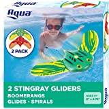 Aqua Mini Stingray Underwater Gliders (2 Pack), Self-Propelled, Adjustable Fins, Travels up to 40 Feet, Pool Game, Ages…