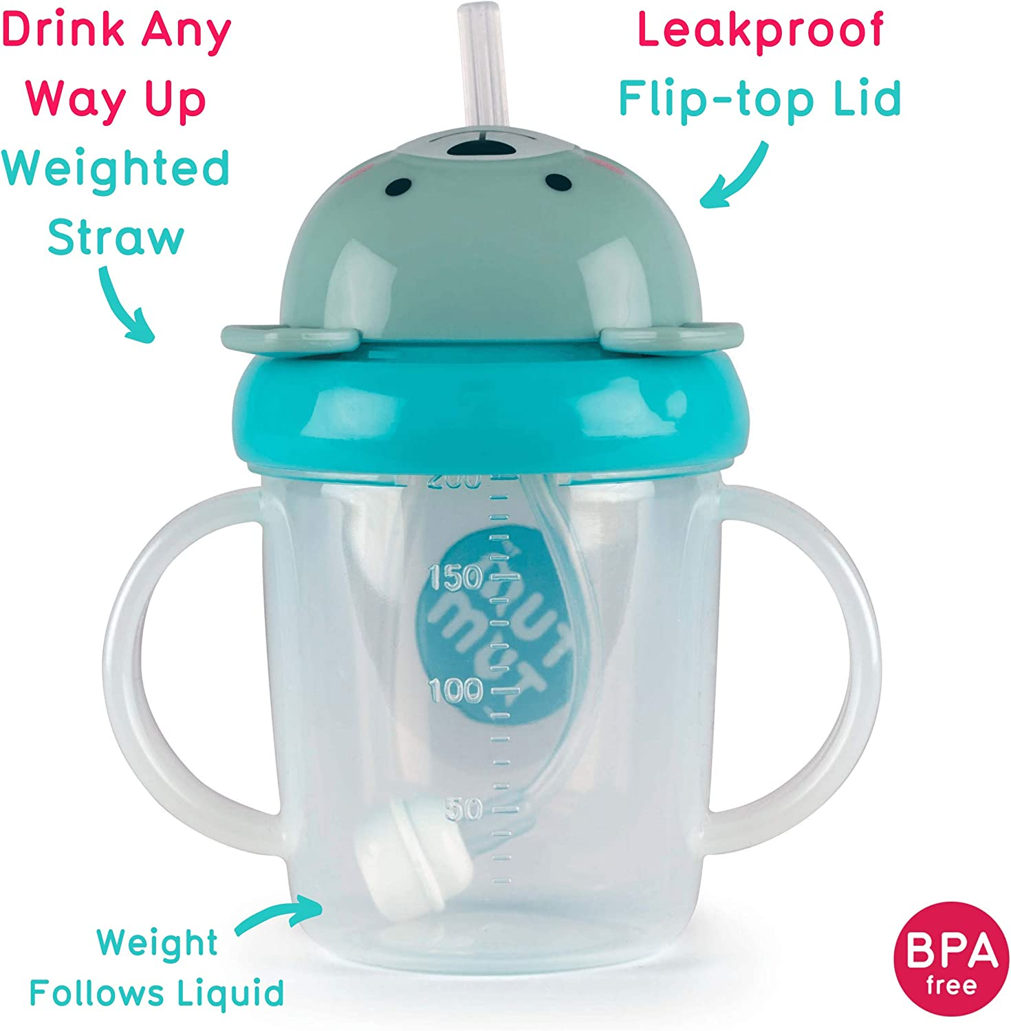 Sippy Cup for Toddlers 200ml BPA Free TUM TUM Tippy Up Free Flow Sippy Cup Kevin Koala