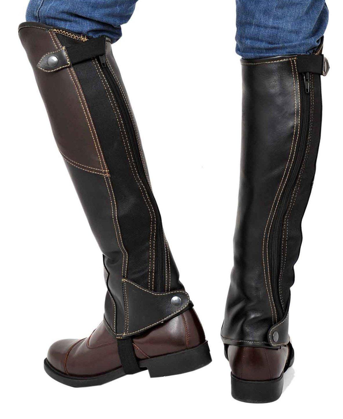 Riders Trend Guêtres en cuir femme 2tons noir Noir/marron moyen U8G9PAid