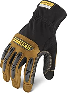 Ironclad Ranchworx Work Gloves RWG2, Premier Leather Work Glove, Performance Fit, Durable, Machine Washable, (1 Pair), Small - RWG2-02-S