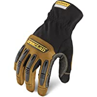 Ironclad Ranchworx Leather Work Gloves, Small, Black/Brown