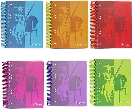 250144 - Pack de 2 Cuadernos tapa dura, tamaño A5, 120 hojas cuadriculadas: Amazon.es: Oficina y papelería