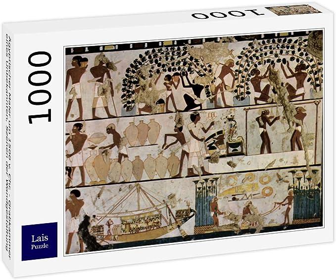 Lais Puzzle Pintor Egipcio Alrededor del 1500 a.C. - cámara de entierro de un Desconocido, escenas de decoración de Pared 1000 Piezas: Amazon.es: Juguetes y juegos