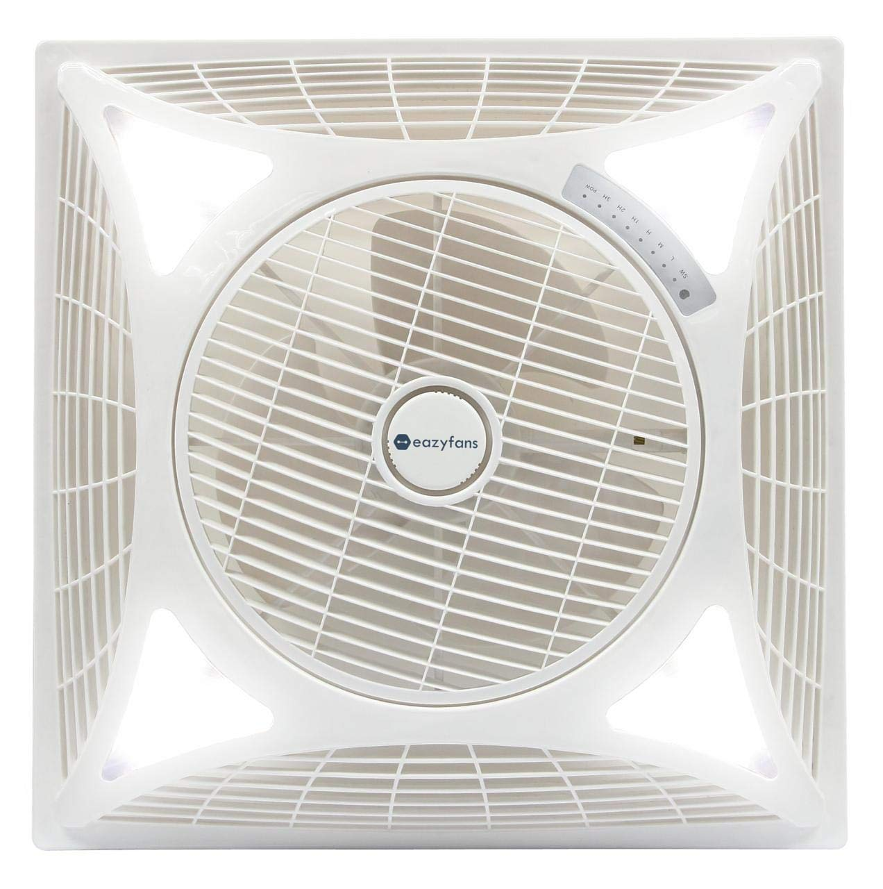 Buy Eazyfans Recessed Cassette False Ceiling Fan With Led 60 60cm White Online At Low Prices In India Amazon In