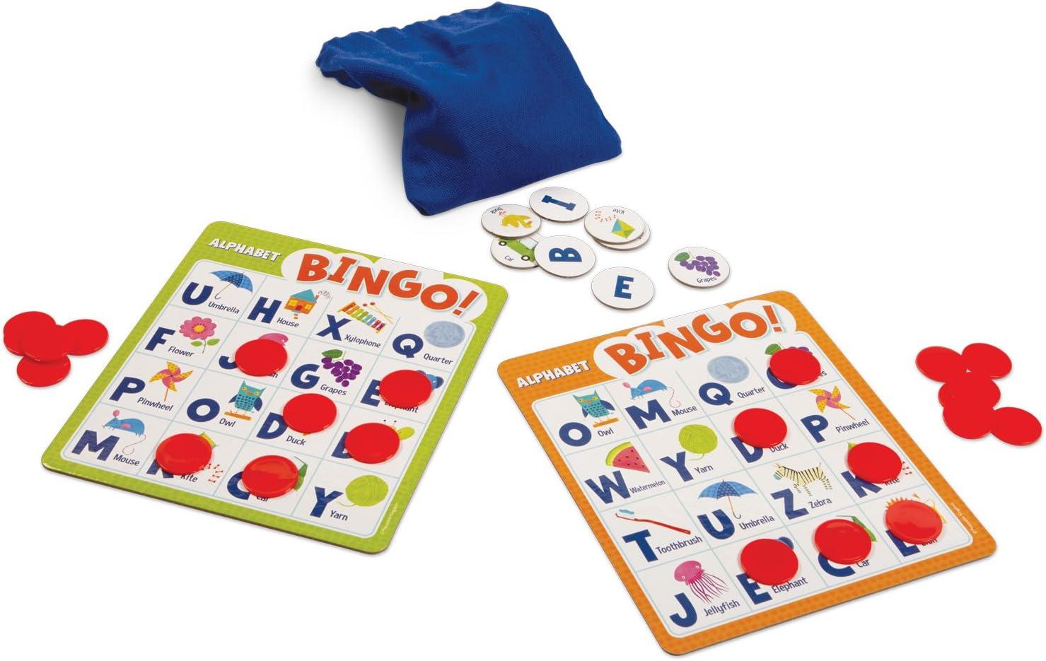 Peaceable Kingdom Alphabet Bingo Letter Learning Board Game for Kids
