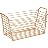 InterDesign Classico Wire Basket, Storage for Kitchen, Bathroom, Closet, Bedroom, Baby - Medium, Copper